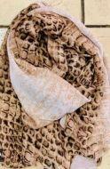 Brown Snake Skin Print Scarf