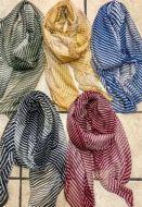 Multi-Colour Striped Scarf