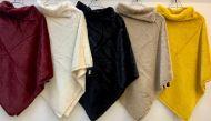 Plain Winter Wool Ponchos