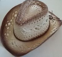 Womens Woven Straw Cowboy Hat