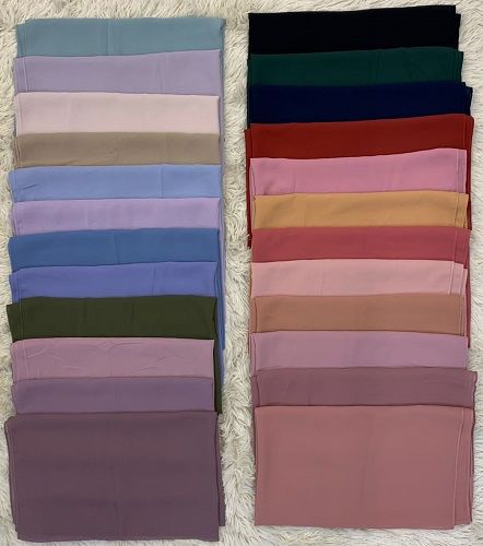 Long Plain Chiffon Hijab Scarf