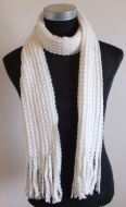 White Knitted Wool Scarf